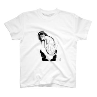 三つ編みちゃん T-shirts