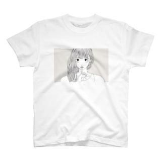 ハイイロ T-shirts