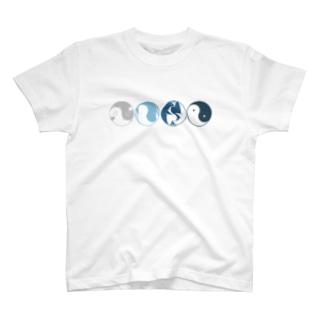 陰陽(横向き) T-shirts