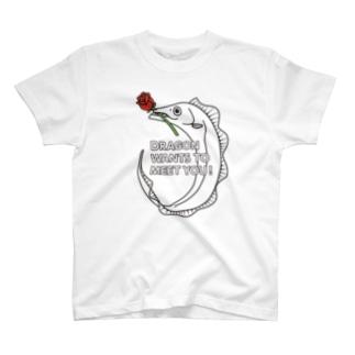 ドラゴンタチウオが釣れちゃうTシャツ_A T-shirts