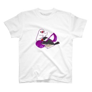 音符と文鳥 T-shirts