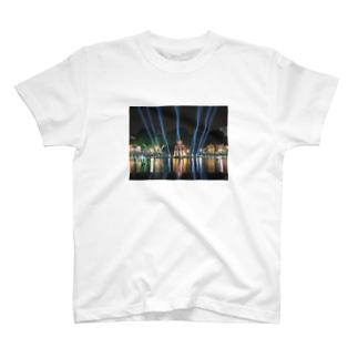 ホアンキエム湖大晦日ライトアップ T-shirts