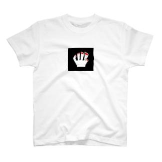 赤色ネイルビッグシルエットロングスリーブTシャツ T-shirts
