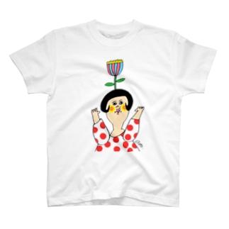 あたまにお花 T-shirts