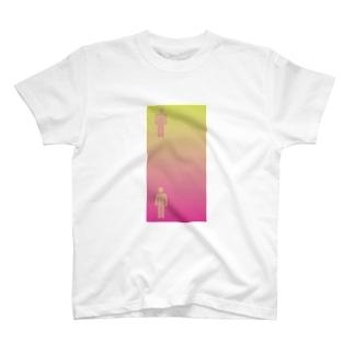 錯覚シリーズ vo.1 ピクトグラムは同じ色 T-shirts