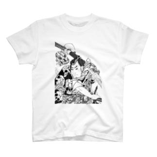 歌川国芳の野晒悟助 T-shirts