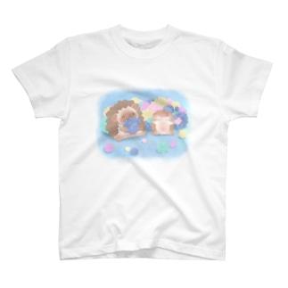 ハリネズミのブラウニー こんぺいとう T-shirts