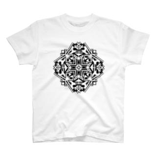 リーフ(モノクロ) T-shirts