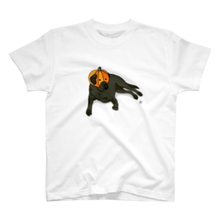 カボチャを被る犬 T-shirts