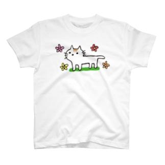 花とネコちゃん T-shirts