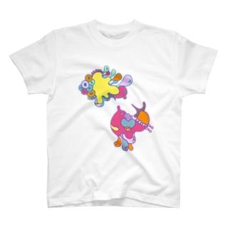 たこさん対決🐙🌈 T-shirts