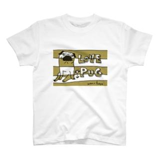 LOVE PUG BORDER T-shirts