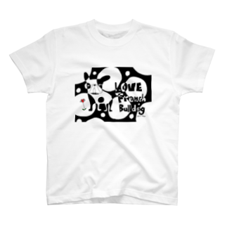 androgyneのLOVE FRENCH-BULLDOG T-shirts
