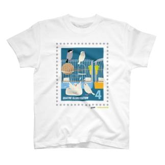キャトル切手_文鳥01 T-Shirt