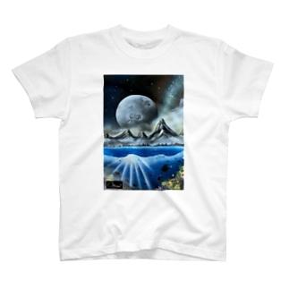 スプレーアート 月光🌕 オシムラサイン入り T-shirts