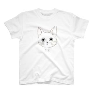 ねここ surprised T-shirts