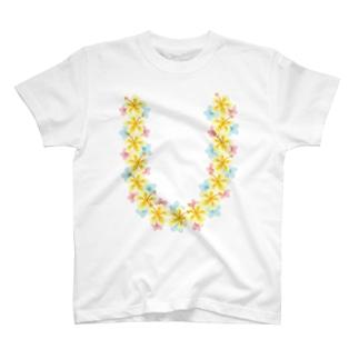 ハワイアンレイイエロー T-shirts