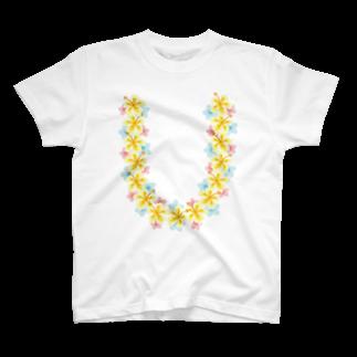 フォーヴァのハワイアンレイイエロー T-shirts