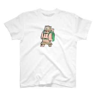 登山するカワウソ T-shirts