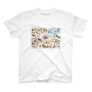 系統樹マンダラ【真獣類編】 T-shirts