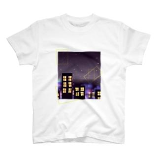 シンプルな夜景 T-shirts