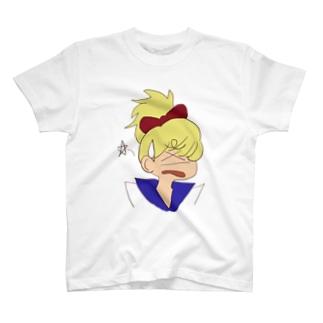 金髪赤リボンセーラー娘2 T-shirts