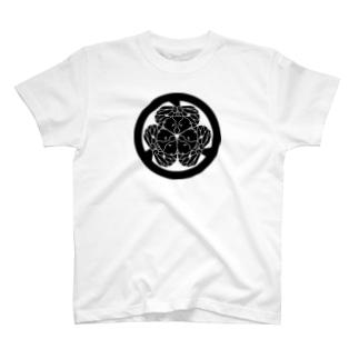 動物家紋。H.T.(三つ葉葵ハシビロコウ) T-shirts
