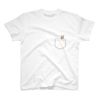 ひょっこりワンちゃん♡ T-shirts