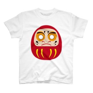 だるまさん目入れ T-shirts