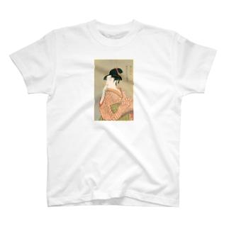 ビードロを吹く娘 utamaro T-shirts
