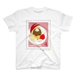 キャトル切手_プリンアラモード T-shirts