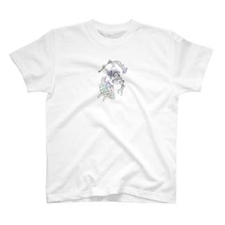 Harutaのmagic girl T-shirts