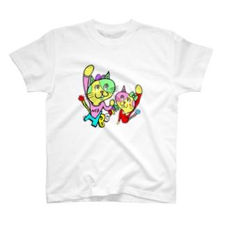 ナコオくんとネココちゃん T-shirts
