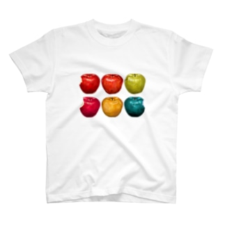 【reflection】カラフルなりんご T-shirts