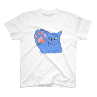 HIGH FIVE CAT BLUE T-shirts