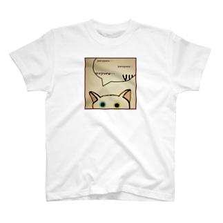 「そーっと・・・」(ゆる猫オッド) T-shirts