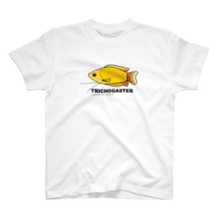 みんな大好き熱帯魚 文字(黒) T-shirts