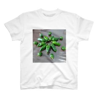 リアルピーマン~お花のかたち T-shirts
