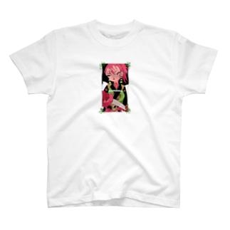 女体化侍 イラストTシャツ T-shirts