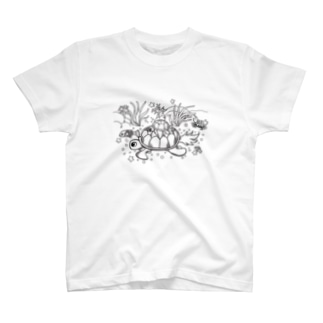 Ocean_Turtle_plain T-shirts