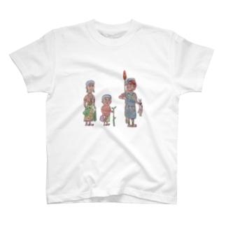 ファミリー 子ども塗り絵ver T-shirts