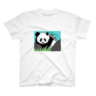 パンダとパー子ともち太 T-shirts