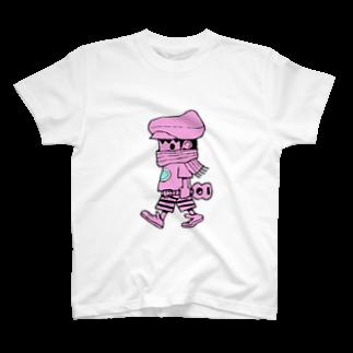 creamSODAのさすらいのレレボーイ(ピンク) T-shirts