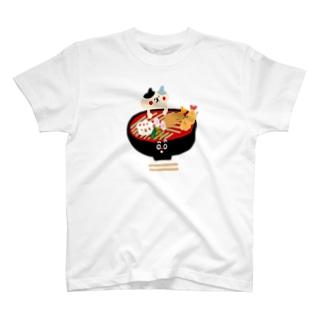 天ぷら蕎麦とねこ T-Shirt