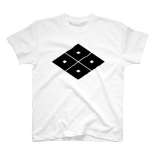 家紋 0053 四つ目菱 T-shirts