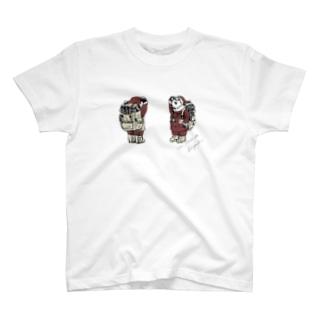 バースデーパンダ/12月(前後姿) T-shirts