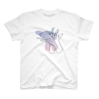 犬の手(otete)-夜明け色 T-shirts