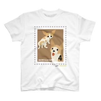 キャトル切手_犬03 T-shirts