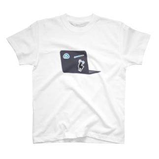 クラウドサインの[5th Anniv.]イラスト_Raptop T-shirts