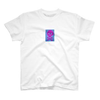 ピンクスカル柄マグカップ T-shirts